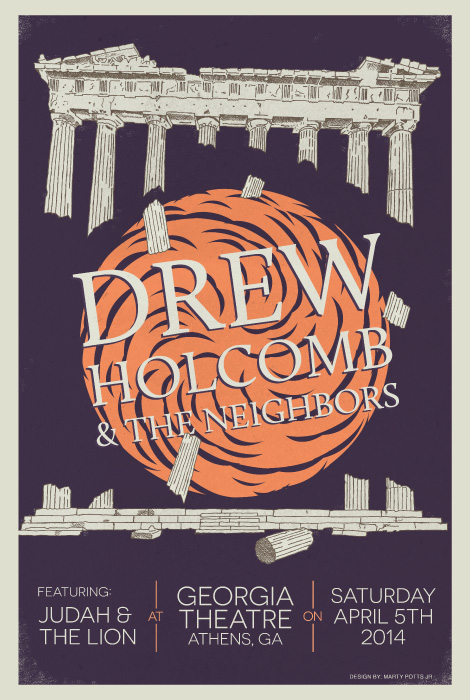 Drew Holcomb and The Neighbors Athens Poster