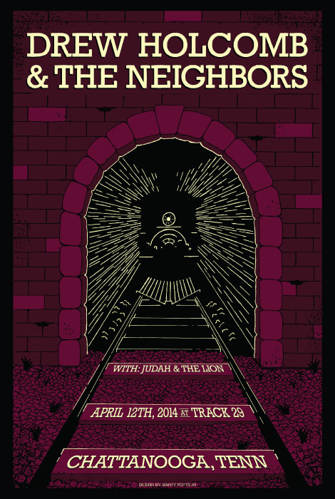 Drew Holcomb and The Neighbors Chattanooga Poster