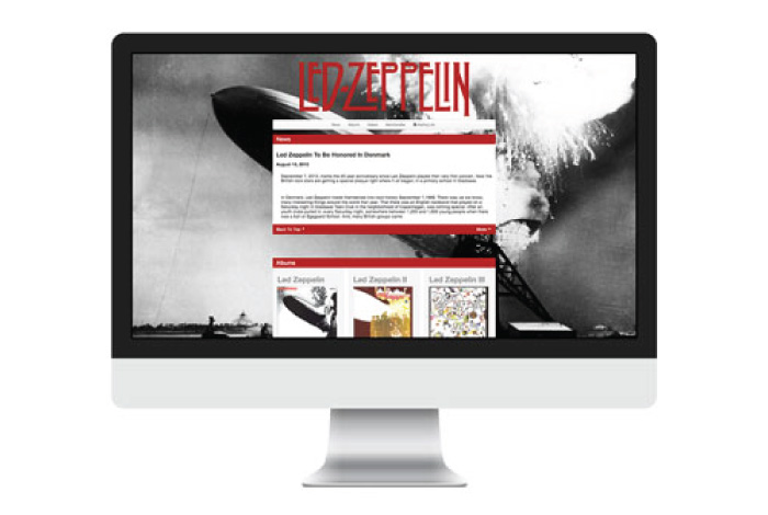 Led Zeppelin Website Design